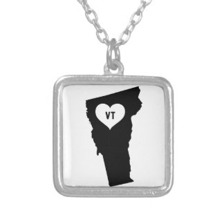 Vermont Love Silver Plated Necklace