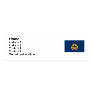 Vermont Map and State Flag Pack Of Skinny Business Cards
