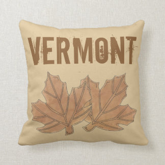 Vermont Maple Leaf Leaves Sugar Candy VT Foodie Cushion