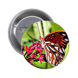 Vermont Monarch Butterfly Pinback Button