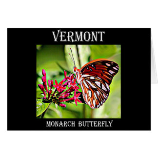 Vermont Monarch Butterfly Greeting Card