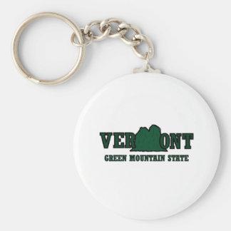 Vermont Mountains Key Ring