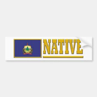 Vermont Native Bumper Sticker