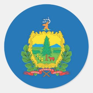 Vermont  Official State Flag Round Sticker