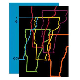 vermont pride blur 9 cm x 13 cm invitation card