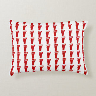 VERMONT RED STATE ACCENT CUSHION