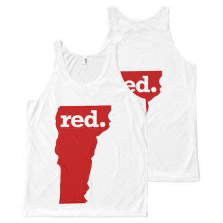 VERMONT RED STATE All-Over PRINT TANK TOP