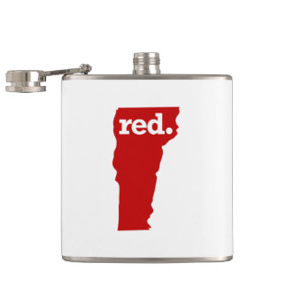 VERMONT RED STATE FLASK