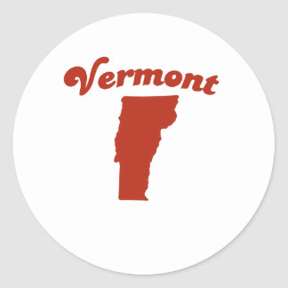 VERMONT Red State Round Sticker