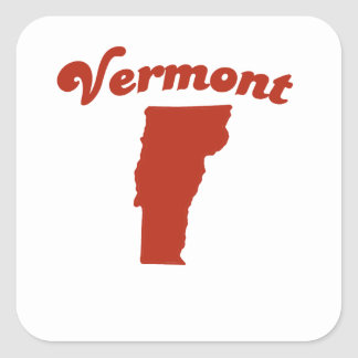 VERMONT Red State Stickers