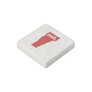VERMONT RED STATE STONE MAGNET