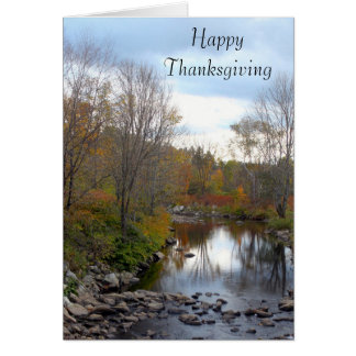 Vermont Rocky Stream 7863 Thanksgiving Card