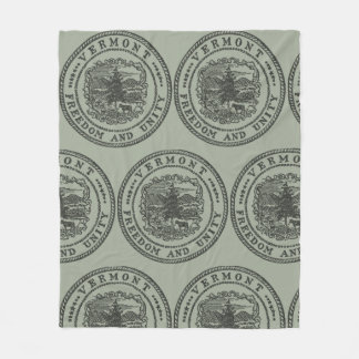 Vermont Seal Fleece Blanket