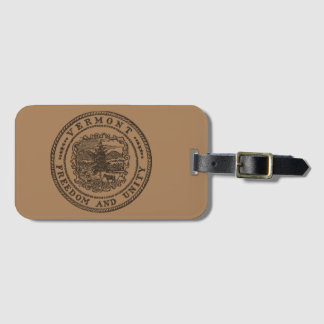 Vermont Seal Luggage Tag