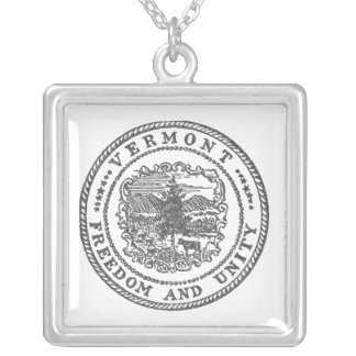 Vermont Seal Silver Plated Necklace
