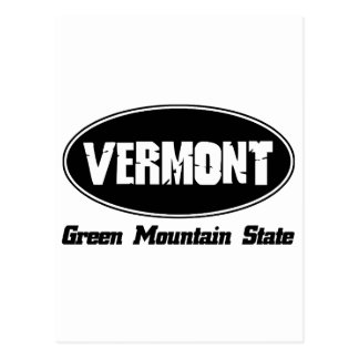 Vermont state designs postcard
