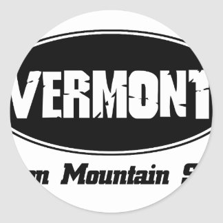 Vermont state designs round sticker