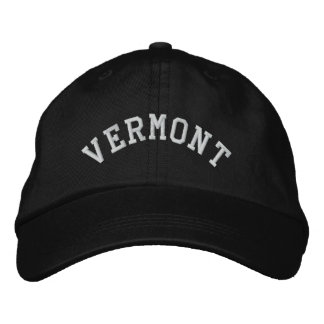 Vermont State Embroidered Baseball Cap