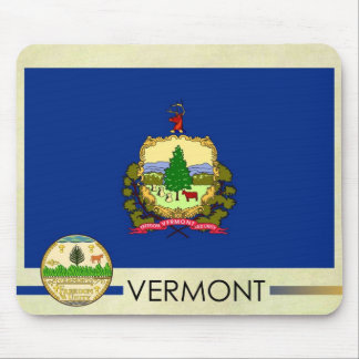 Vermont State Flag and Seal Mouse Pad