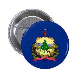 Vermont State Flag Button