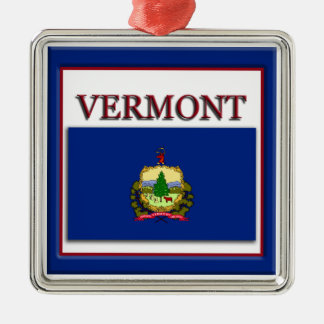 Vermont State Flag Christmas Ornament