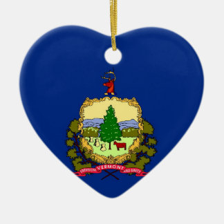 Vermont State Flag Christmas Ornaments