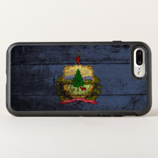 Vermont State Flag on Old Wood Grain OtterBox Symmetry iPhone 7 Plus Case