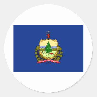 Vermont State Flag Round Sticker
