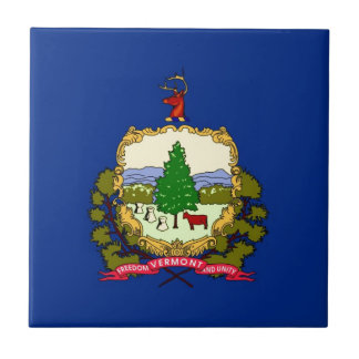 Vermont State Flag Small Square Tile