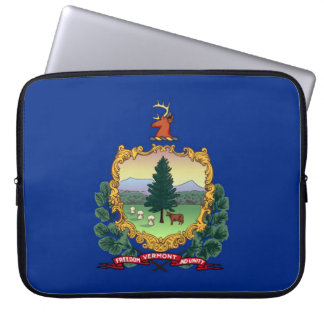 vermont state flag united america republic symbol laptop sleeves