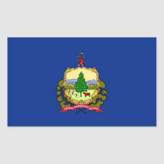 Vermont State Flag, United States Rectangular Sticker