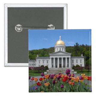 Vermont State House -Montpelier 15 Cm Square Badge