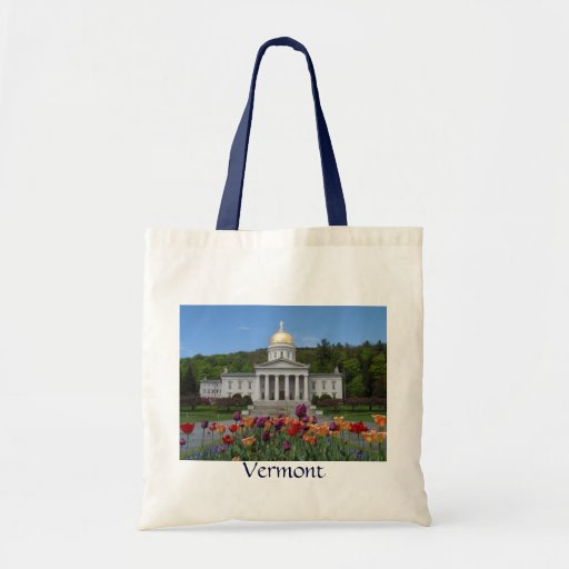 Vermont State House -Montpelier Canvas Bags