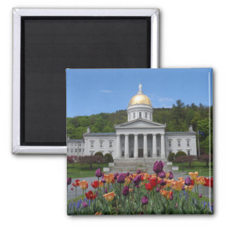 Vermont State House -Montpelier Square Magnet