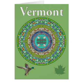 Vermont State Mandala Greeting Card