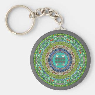 Vermont State Mandala Keychain
