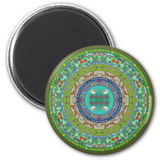 Vermont State Mandala Magnet