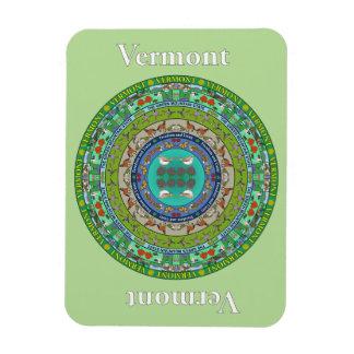 Vermont State Mandala Vinyl Magnet