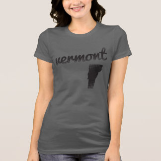 Vermont State on Ladies Tee Shirt