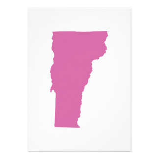 Vermont State Outline Personalized Announcements