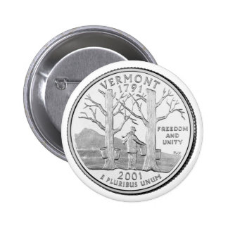 Vermont State Quarter Pinback Buttons