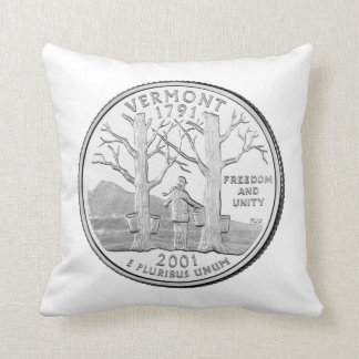 Vermont State Quarter Throw Cushions