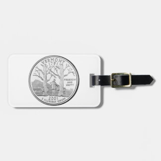Vermont State Quarter Tag For Bags