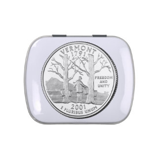 Vermont State Quarter Jelly Belly Tin