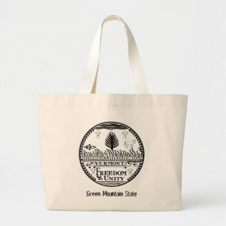 Vermont State Seal and Motto Jumbo Tote Bag