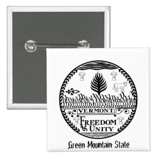 Vermont State Seal and Motto Pins