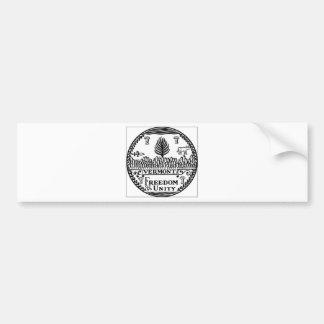 Vermont State Seal Car Bumper Sticker