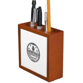 Vermont State Seal Desk Organizer