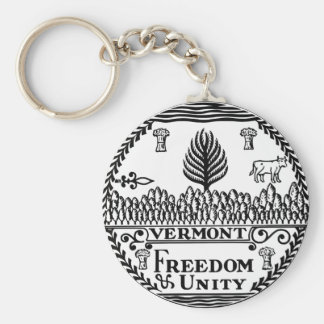 Vermont State Seal Key Chains