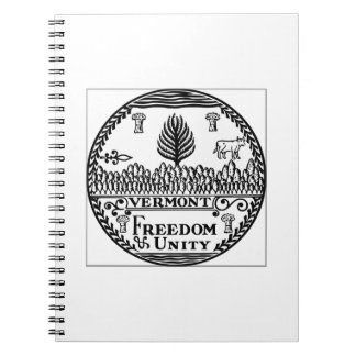Vermont State Seal Note Book